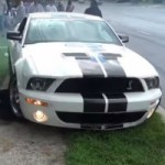 It's not easy to control a Mustang…