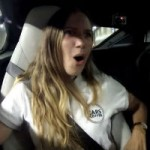 The girl's reaction to the Jaguar F-Type is priceless!